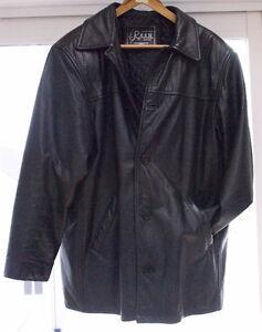 Manteau de cuir noir pour homme grandeur M par ROSH J. Sako