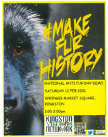 National Anti Fur Day Demo Protest