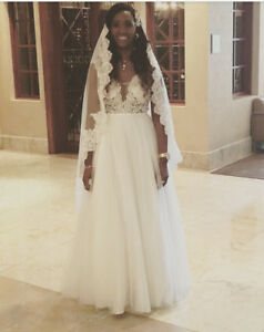 Lace Wedding Dresswith The Veil
