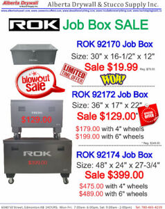 "ROK 48"" Storage Box from $399.00"