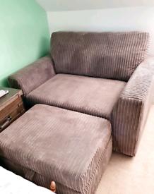 DFS Olwen Cuddler sofa + Footstool