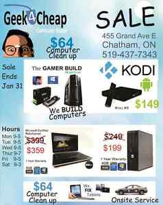Geek4Cheap ★ January Flyer ★ 455 Grand Ave East Chatham