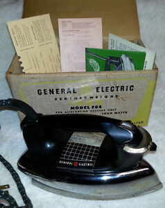 Antique GE FEATHERWEIGHT IRON F84 in Box with Paperwork
