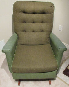 Vintage Sofa Rocking Chair - Green