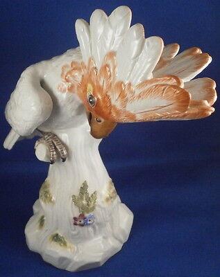 Meissen Porcelain Cockatoo Bird Figurine Porzellan Kakadu Vogel Figur Figure