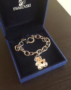 Brand New Swarovski Mini Teddy Charm Bracelet