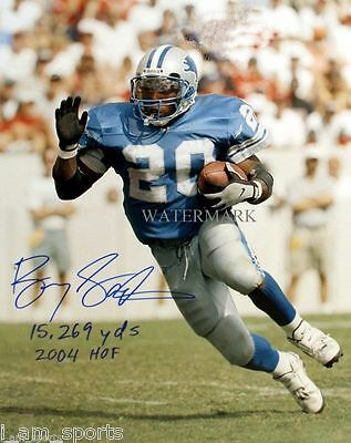BARRY SANDERS AUTOGRAPHED DETROIT LIONS NFL FOOTBALL HOF 8x10 REPRINT PHOTO RP