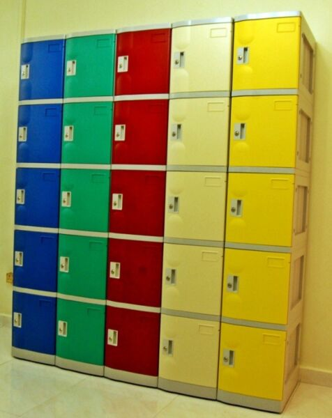 5 Compartments ABS Plastic Lockers on promo in Malaysia