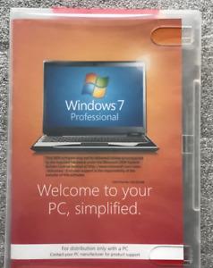 Microsoft Windows 7 Pro Professional Scarborough