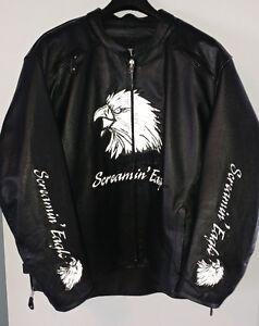 Beau manteau de moto en cuir pour femme 3xl Sceaming Eagle.