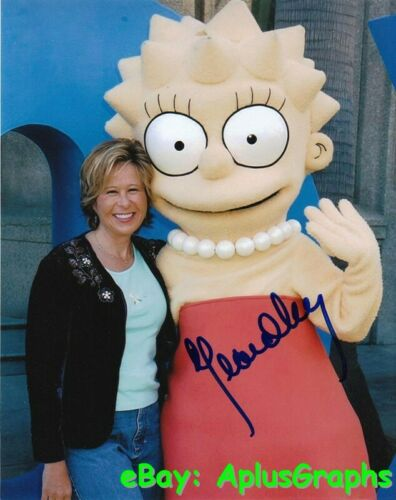 YEARDLEY SMITH.. with Her Alter Ego, Lisa Simpson (The Simpsons) SIGNED