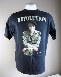"John Lennon ""Revolution"" Men's XL Black T-Shirt NEW Made in USA"