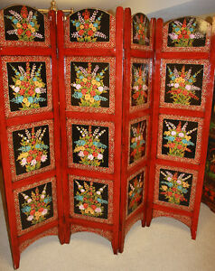 Hand made colorful room divider