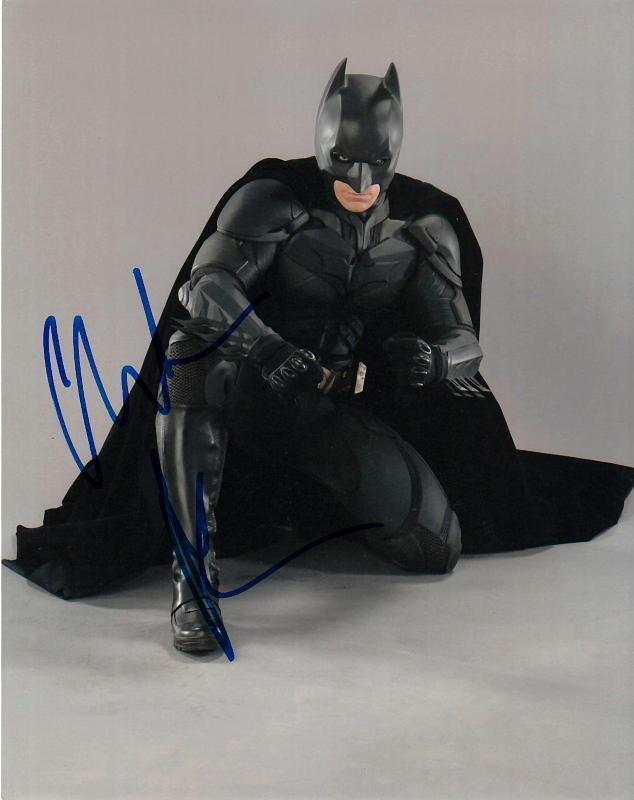 CHRISTIAN BALE.. The Dark Knight (Batman) SIGNED
