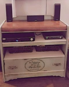 Converted Antique Waterfall Dresser