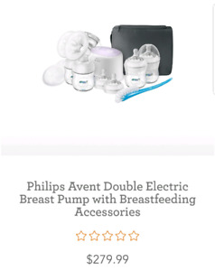 SLIGHTLY USED Philips Avent Double Electric Breast Pump