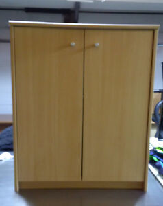Cabinets and workstation table w matching filing cabinet