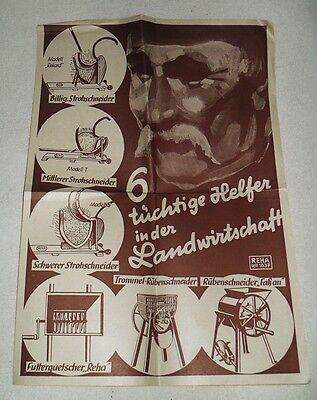 2 Alte Werbeblätter - Tüchtige Helfer in der Landwirtschaft - Um 1938 - REHA
