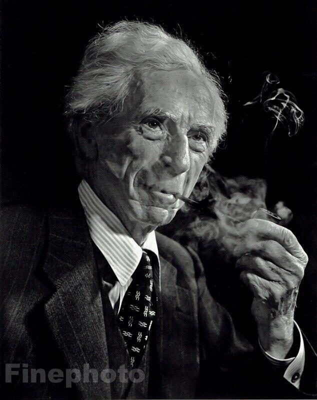 1949 Vintage Bertrand Russell British Philosopher YOUSUF KARSH Photo Art 16x20 - $196.12