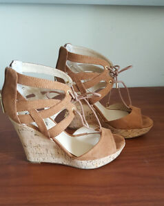 Gorgeous Brown Guess Wedge Sandals - Size 7