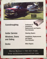 Eavestrough, continuous installation/ repairs