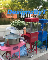 Cotton candy popcorn snow cone hotdog cart
