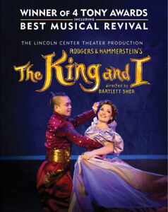 Rodgers & Hammerstein's The King and I, Aug 4, Sat.