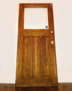 EXTERIOR WOOD FRONT DOOR WITH WINDOW