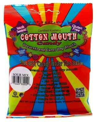 (3 Pack) COTTON MOUTH CANDY SOUR MIX BAG 3.3 Ounce