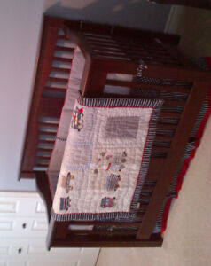 Pottery Barn crib bedding plus 4 pictures and crib wraps