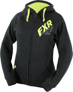 3 NEW FXR Zenith Unisex Zip Up Hoodies Grey/Hi-Vis 1 SM & 1 LG