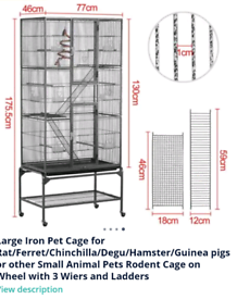 Iron 3 tier Bird/Small animal cage (Feel free to ask any questions)