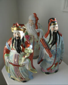 Large Chinese figurines God's of luck