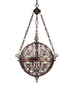 Stylish Solid Iron 3-light Ball Pendant – BRAND NEW