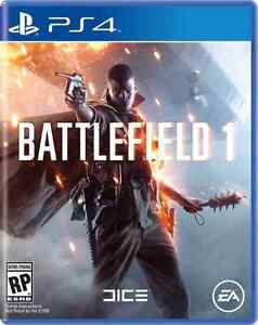 Wanted ISO Battlefield 1 for PS4