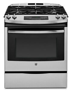 STOVE BRAND NEW SLIDE-IN SELF-CLEAN GAS STAINLESS (JCGS650SEFSS)