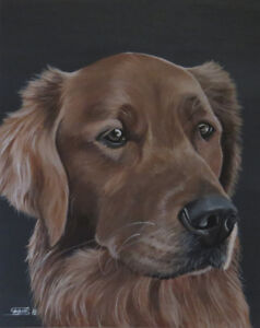 ** Painted Pet Portrait ~ Ready for Christmas **
