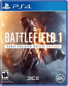 BATTLEFIELD ONE 1 DELUXE EDITION PS4 PLAYSTATION 4