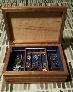 Jewelry Box - Burlwood - Hand made