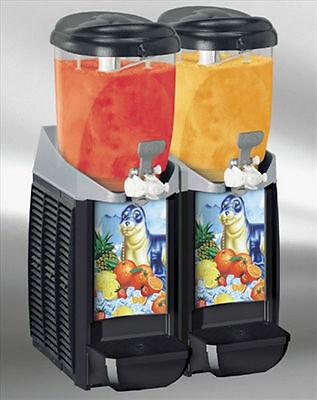 New Black Caress 2 Bowl Frozen Drink Machine