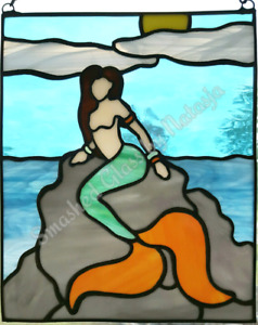 Stained Glass Mermaid Art