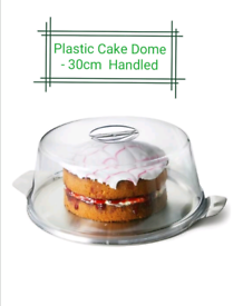Plastic cake dome 30cm with base stainless steel