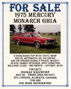 1975 Mercury Monarch Car
