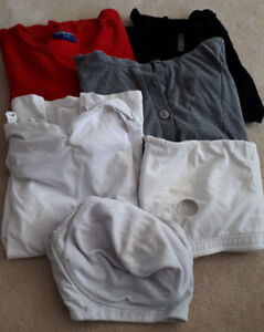 Maternity clothes: 3 tops, cami, bra, size XL in good condition