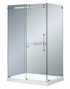 DOUCHE RECTANGLE A PORTE COULISSANTE DE 60 X 32 X 75'' AVEC BASE