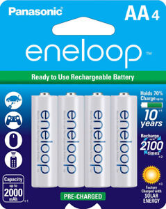 Long Lasting ENELOOP AAA Set of 4 or AA with Charger