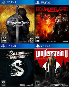 Selling/Trading PS4 Kingdom Come, Horizon, Bound, Wolfenstein 2