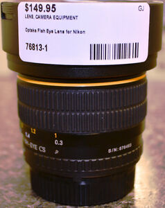 Opteka Aspherical Fish Eye Lens for Nikon