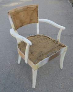 VINTAGE ANTIQUE SHABBY CHIC PAINTED SIDE CHAIR - PROJECT PIECE