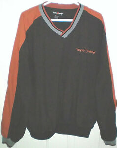 TaylorMade Golf V Neck XL Pullover Windbreaker Jacket